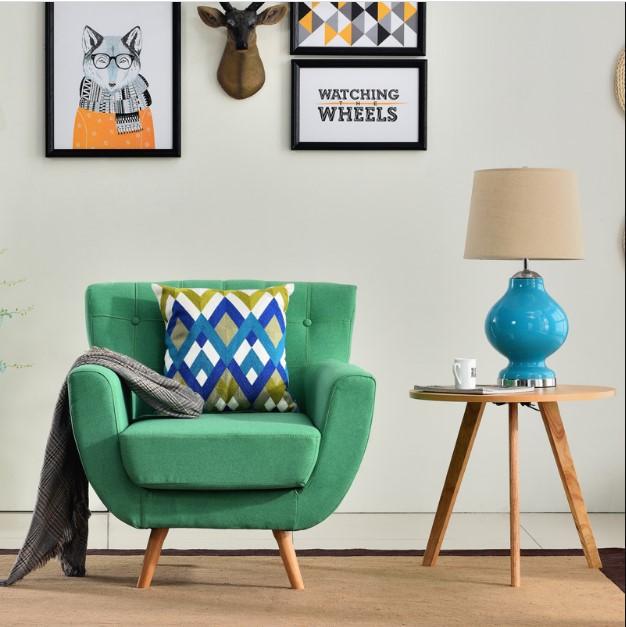 Green minimalist sofa single couch for kids elegant