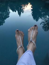 Turkish Flat Bead Crochet Barefoot Sandals