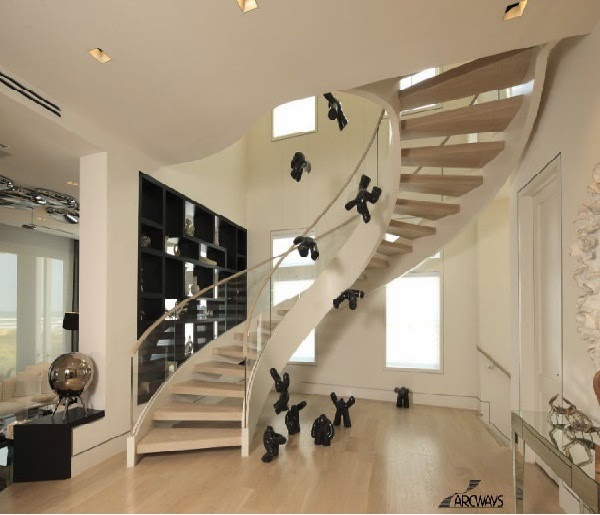 glass stair railings: classic stairs design with glass railings