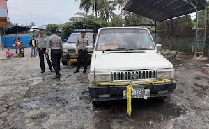 Mobil Pick Up Terbakar di KTK, Seorang Balita Ikut Jadi Korban