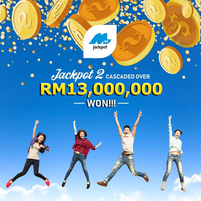 Any amount exceeding RM20 million will cascade and will be added into Jackpot 2 prize amount.