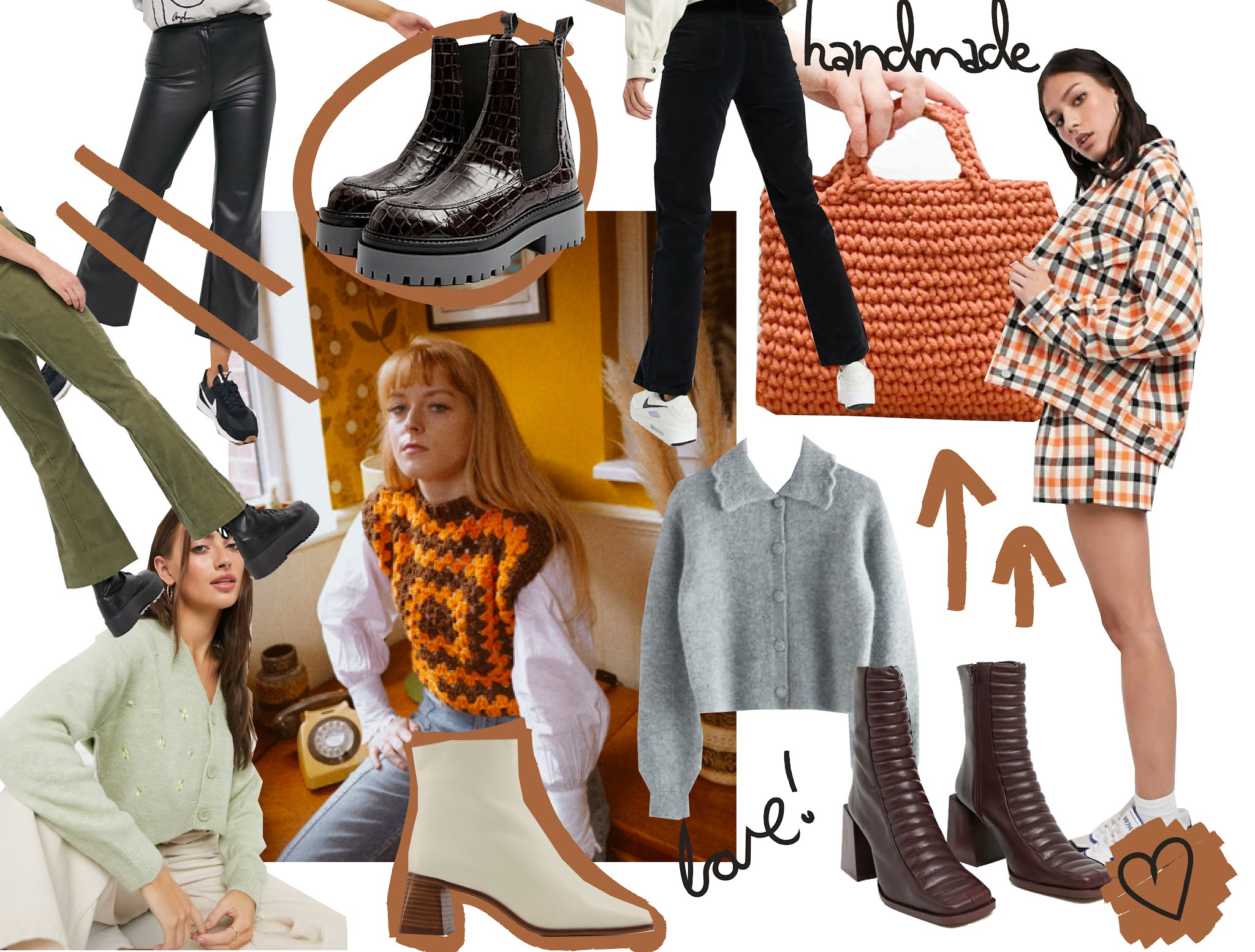 collage of autumn winter fashion picks Wishlist for2020 style