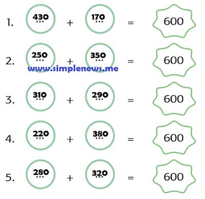 Buatlah lima kemungkinan Jumlah kelereng semuanya 600 buah www.simplenews.me