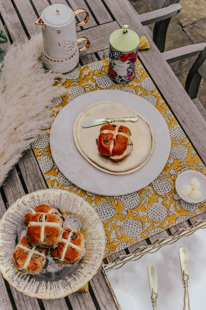 Good Friday Hot Cross Buns Table Food Styling Setting