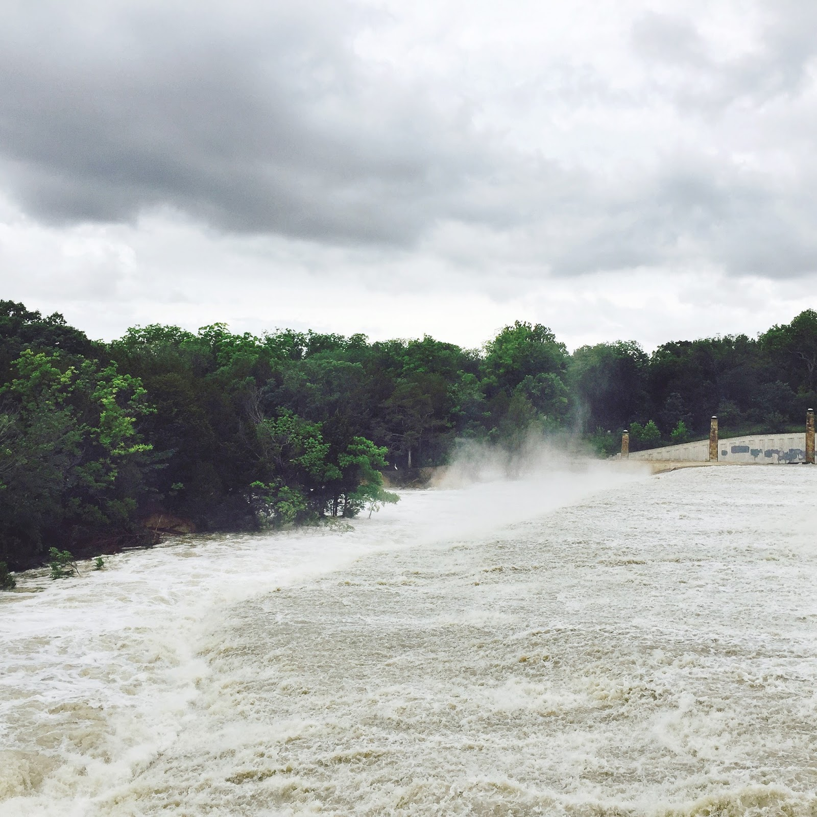 White rock lake spillway flooding