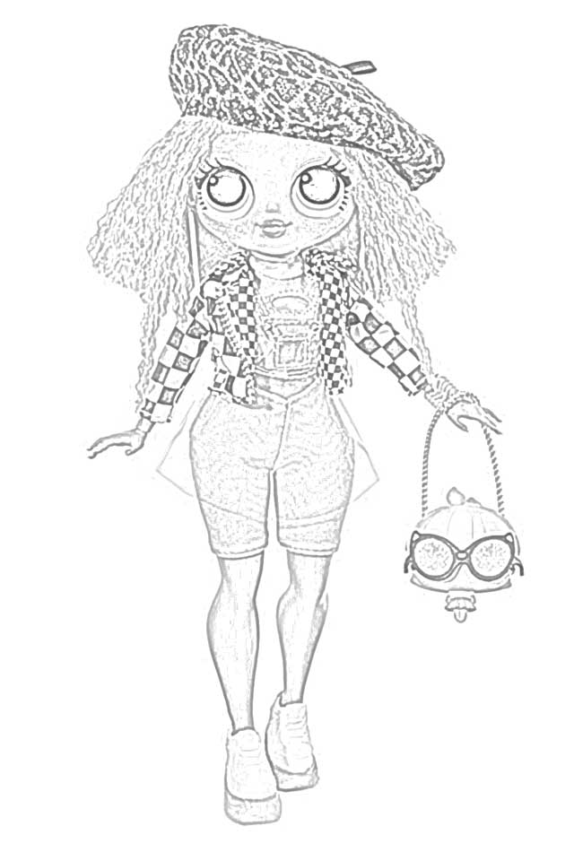o m g dolls coloring pages free