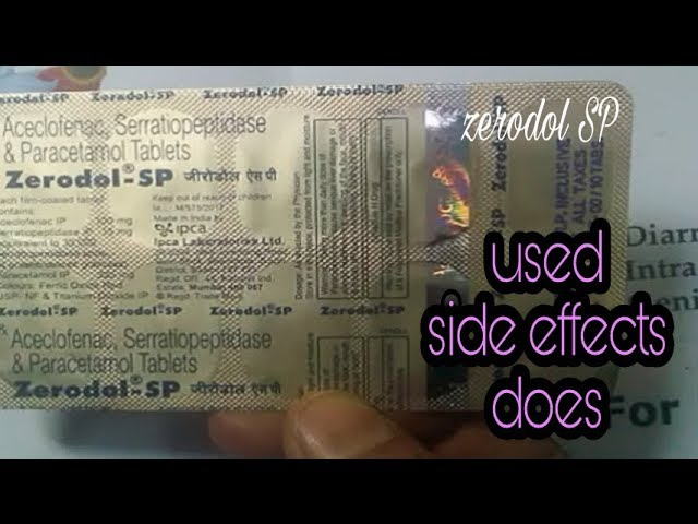 zerodol sp tablet in Hindi | zerodol sp kaise kam karta hai |