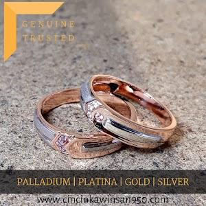 cincin kawin palladium pasangan 482