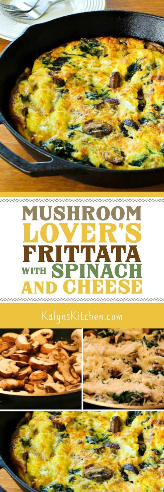 Kalyn's Kitchen®: Mushroom Lover's Frittata with Spinach and Cheese