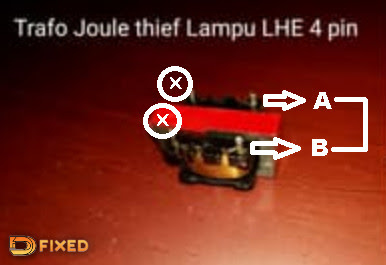Trafo joule thief LHE 4 pin