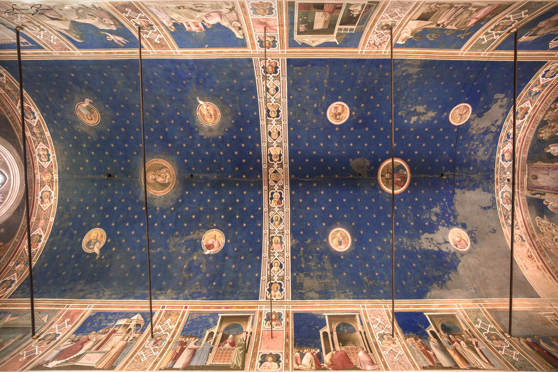 Giotto, la volta della Cappella degli Scrovegni, Padova.