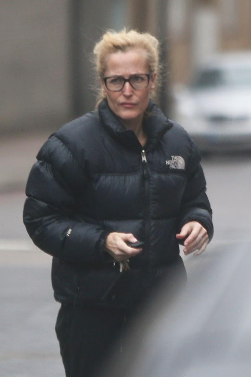 Gillian Anderson Outside in London 18 Dec-2020