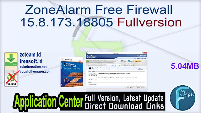ZoneAlarm Free Firewall 15.8.173.18805 Fullversion