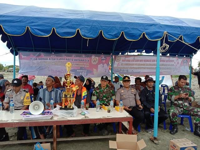 Sambut Dirgahayu RI ke 74, Gampong Aluenaga Gelar Lomba Jaloe Kruweh