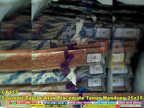 jual Souvenir Taplak Atau Placemate Tenun Mendong 25x35