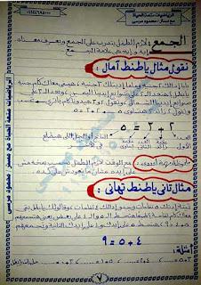 مذكرة تأسيس رياضيات للأطفال للأستاذ محمود مرسي