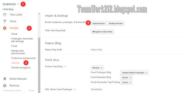 Mengimpor postingan dan komentar ke blog