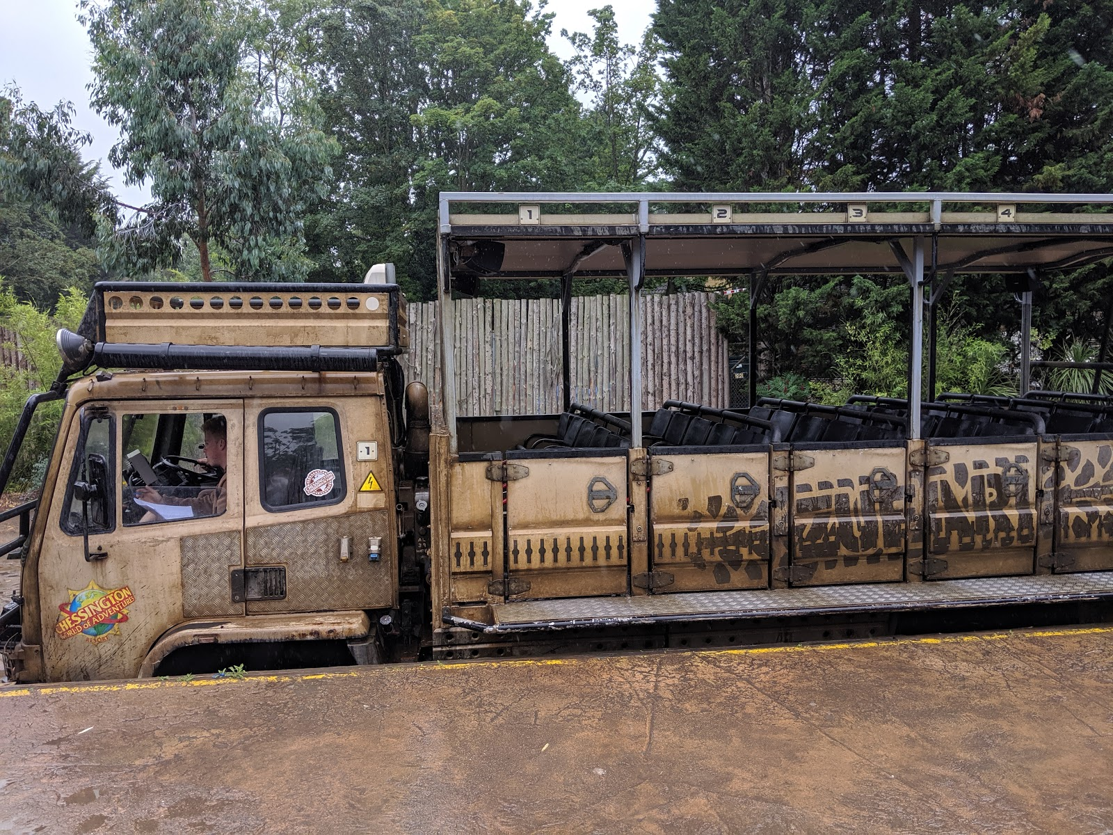 Exploring the Southern Merlin Theme Parks with Tweens  - zufari truck at Chessington
