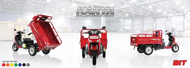 Kembali lagi pada artikel kami, kali ini kita akan membahas mengenai sepeda motor roda tiga dari Viar yakni New Karya Bit 100.