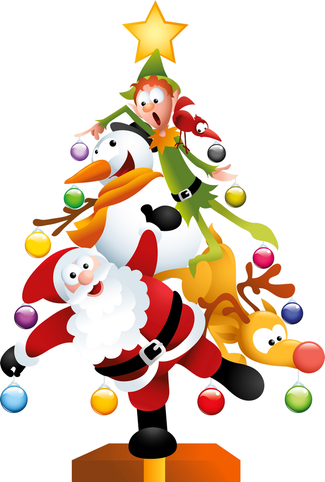 Christmas And New Year Background free png