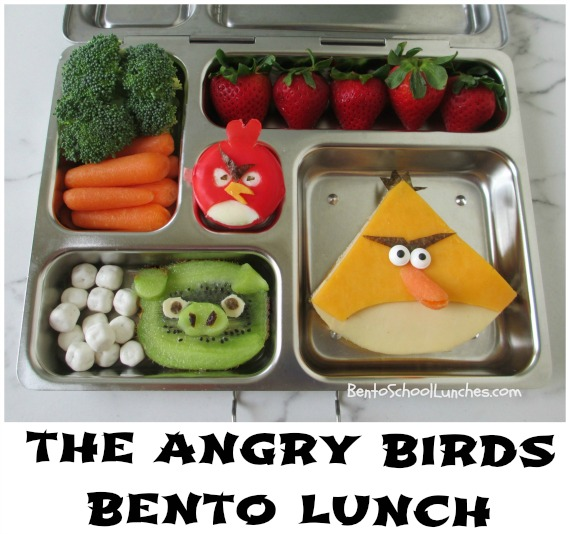 bento school lunches the angry birds bento lunch. Black Bedroom Furniture Sets. Home Design Ideas