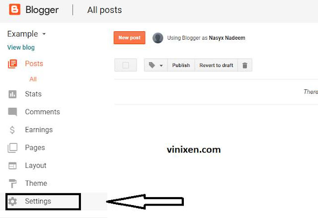 blogger setting