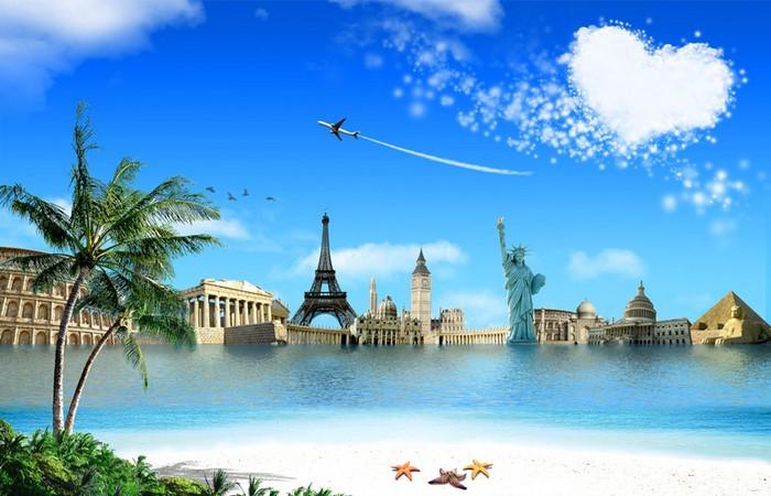 Bilgisayar i in animasyonlu duvar ka tlar rooteto for Best vacation spots around the world