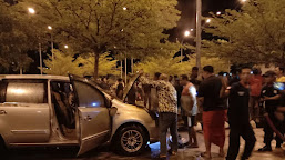 Maksud Hati Istirahat dan Sholat, Sekali Lihat Mobil Terbakar