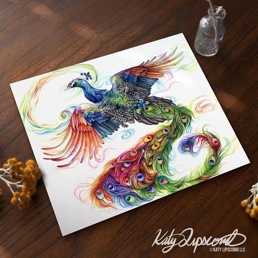 10-Flying-peacock-Katy-Lipscomb-www-designstack-co