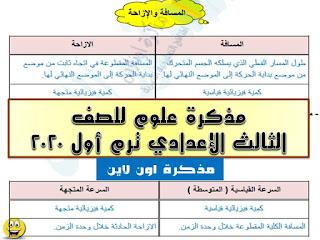 مذكرة علوم للصف الثالث الإعدادي ترم أول 2020 أستاذ محمد نور الدين