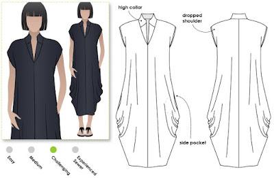 Creates Sew Slow: Style Arc Toni Designer Dress