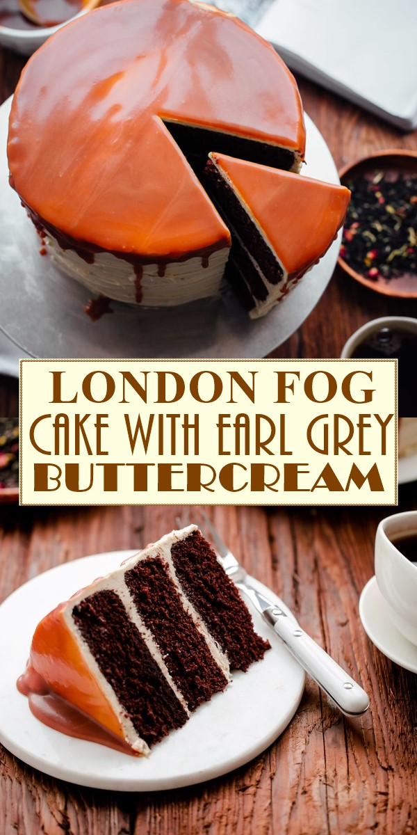 LONDON FOG CAKE WITH EARL GREY BUTTERCREAM #cakerecipes