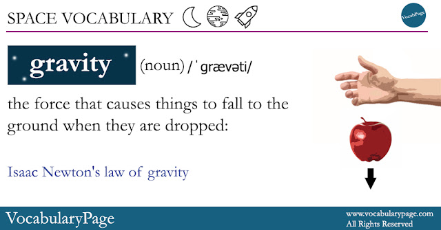 Gravity Vocabulary