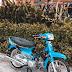 Sơn Honda Dream màu xanh biển cực đẹp
