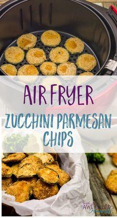 Tasty Air Fryer Zucchini Parmesan Chips
