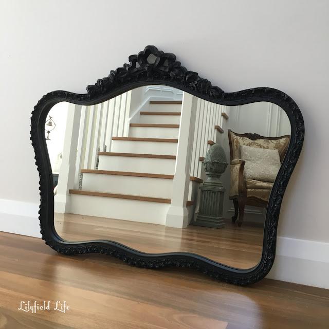 black vintage mirror Lilyfield Life