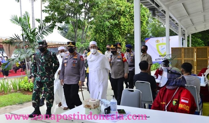 Ditarget 4.500 Orang, TNI-Polri Gelar Vaksinasi Massal Bareng Islam Rabithah Alawiyah di Cibis Park