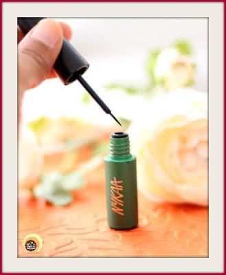 Nykaa GLAMOReyes 03 Enchanting Forest Liquid Eyeliner Review On Natural Beauty And Makeup Blog