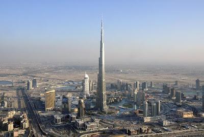 Burj Khalifa en Dubái, el edificio más alto del mundo