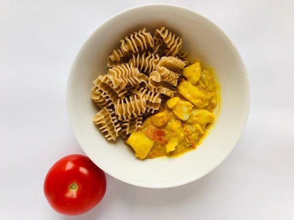 Cabillaud sauce curry/curcuma
