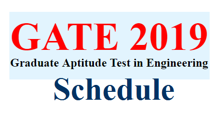 GATE 2019 Schedule Released by IIT Madras @www.gate.iitm.ac.in GATE Schedule Released IIT Madras has released Schedule for GATE 2019 Exam gate-2019-schedule-released-by-iitm-madras-gate.iitm.ac.in-get-details