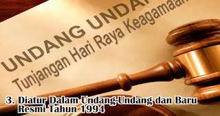 Diatur Dalam Undang-Undang dan Baru Resmi Pada Tahun 1994 merupakan kisah awal mula adanya THR