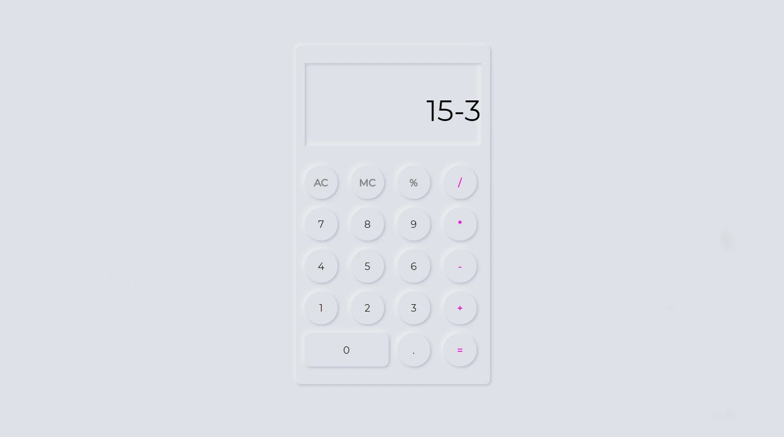 Activate the buttons on the calculator