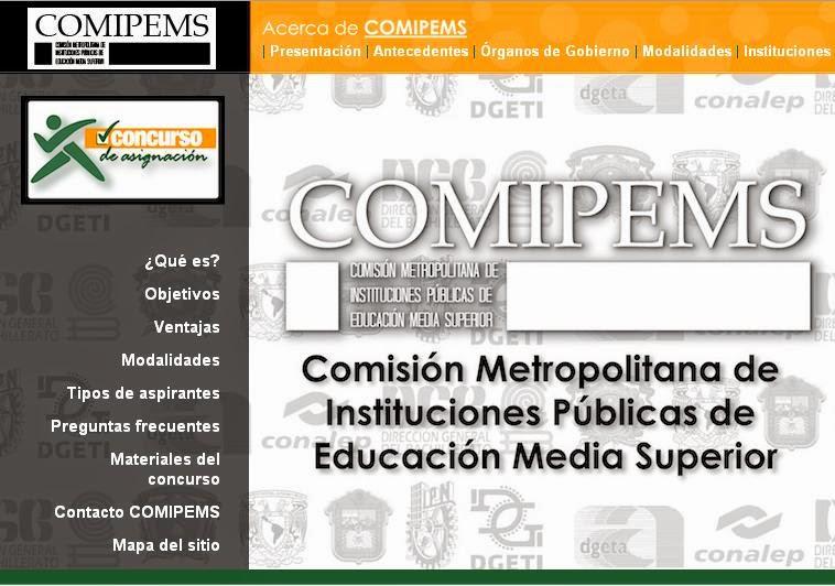 www.comipems.org.mx Pre Registro COMIPEMS 2018 via Internet