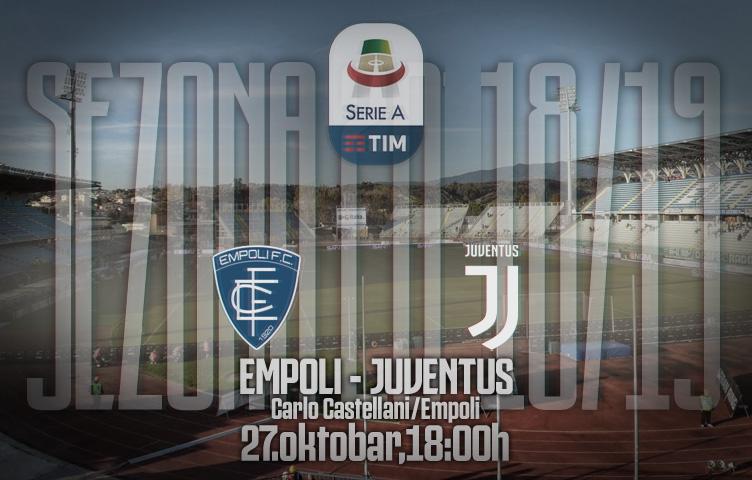 Serie A 2018/19 / 10. kolo / Empoli - Juventus, subota, 18:00h
