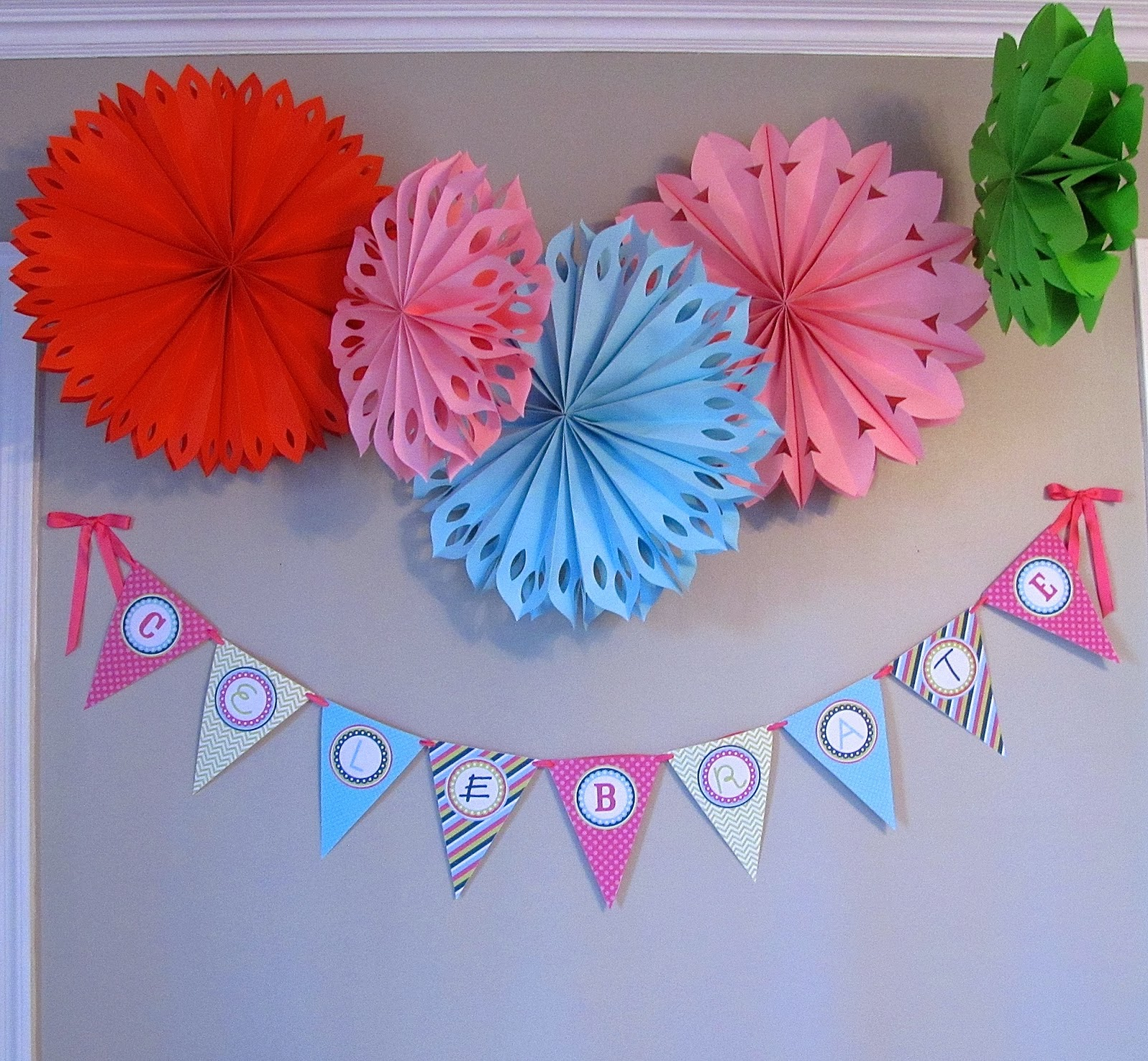 Martha Stewart paper party decorations