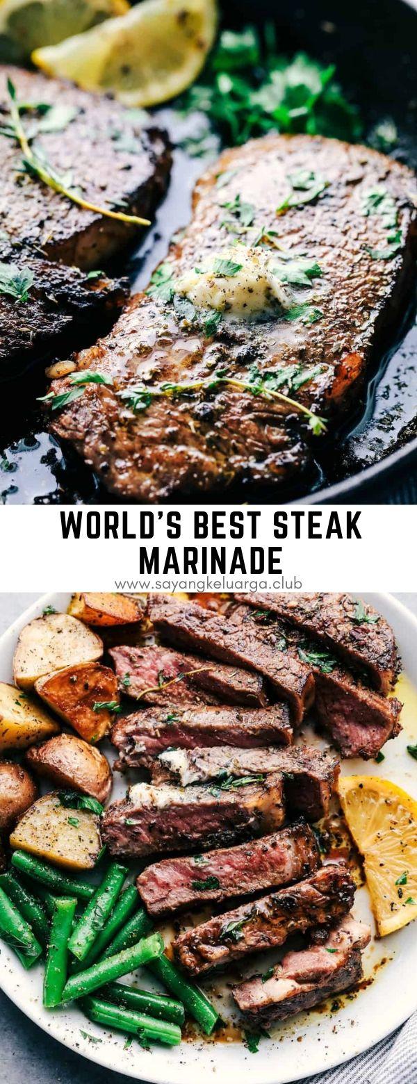 World's Best Steak Marinade #dinner #maincourse #steak #marinade