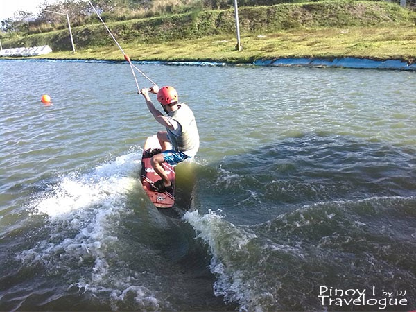 Cable wakeboarding, the author in action