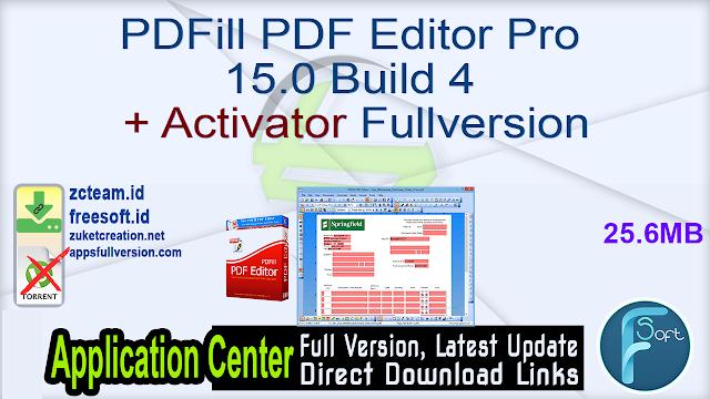 PDFill PDF Editor Pro 15.0 Build 4 + Activator Fullversion