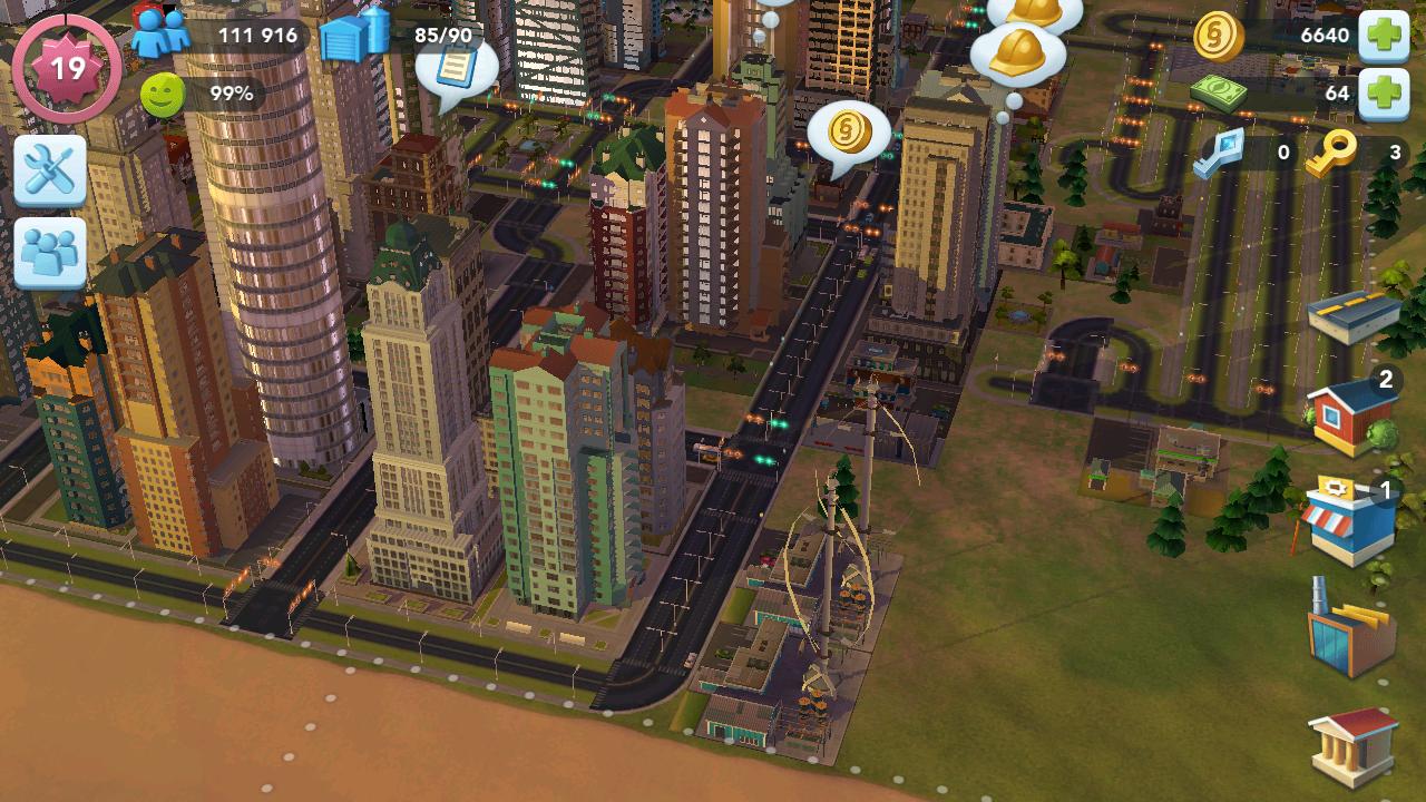 SimCity Buildit APK - kota di sore hari